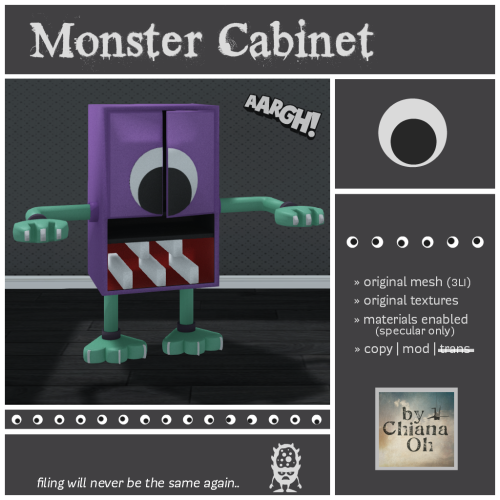 by Chiana Oh - Monster Cabinet [ad]