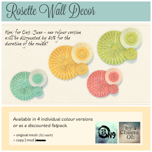 by Chiana Oh - Rosette Wall Decor [ad] On9 June